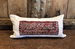 Cushion made from a vintage french linen and antique embroidery